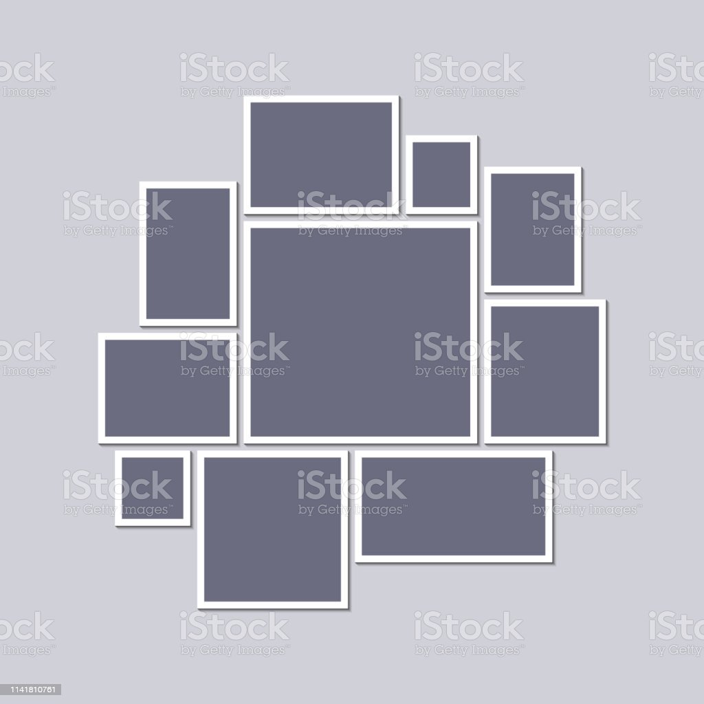 Mood Board Template   Mood Board Template Stock Illustration Download Image Now