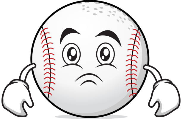 Moody face baseball character collection vector illustration vector art illustration