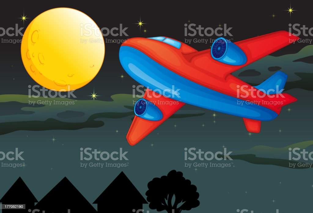 Moon and airplane royalty-free moon and airplane stock vector art & more images of air vehicle