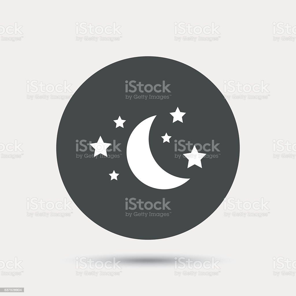 Moon And Stars Sign Icon Sleep Dreams Symbol Stock Vector Art More