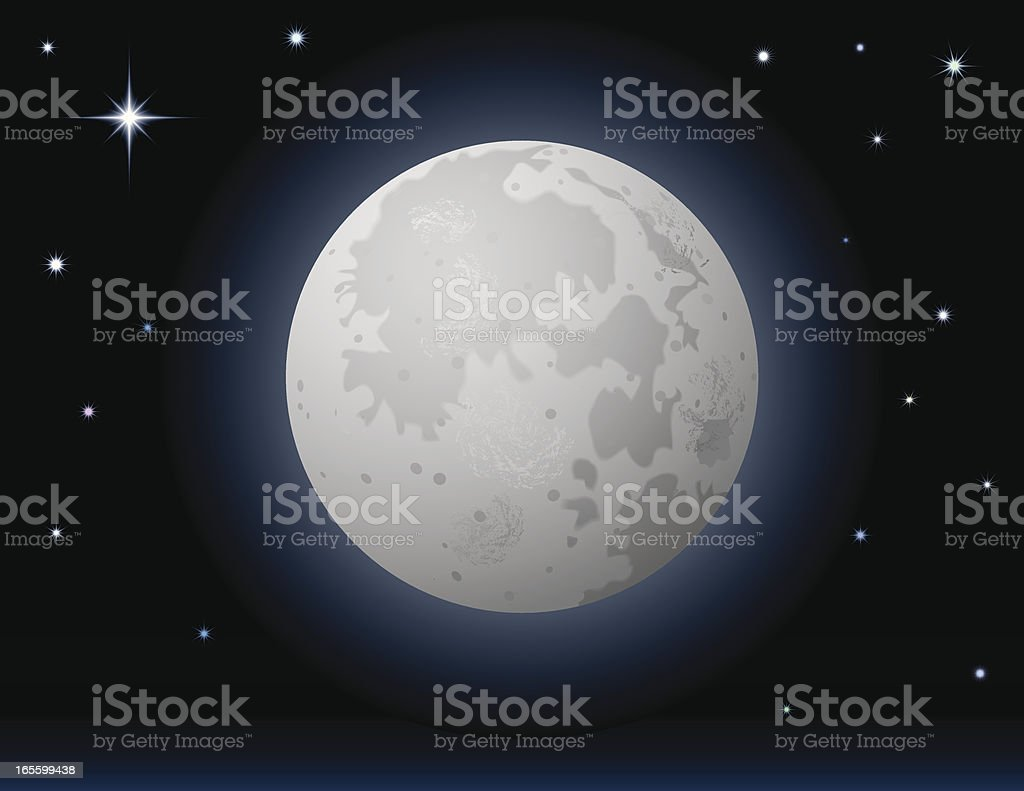 Moon and Stars royalty-free stock vector art