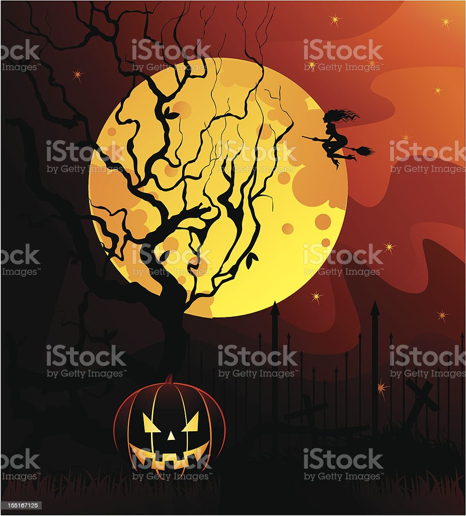 Moon and witch royalty-free moon and witch stock vector art & more images of abstract