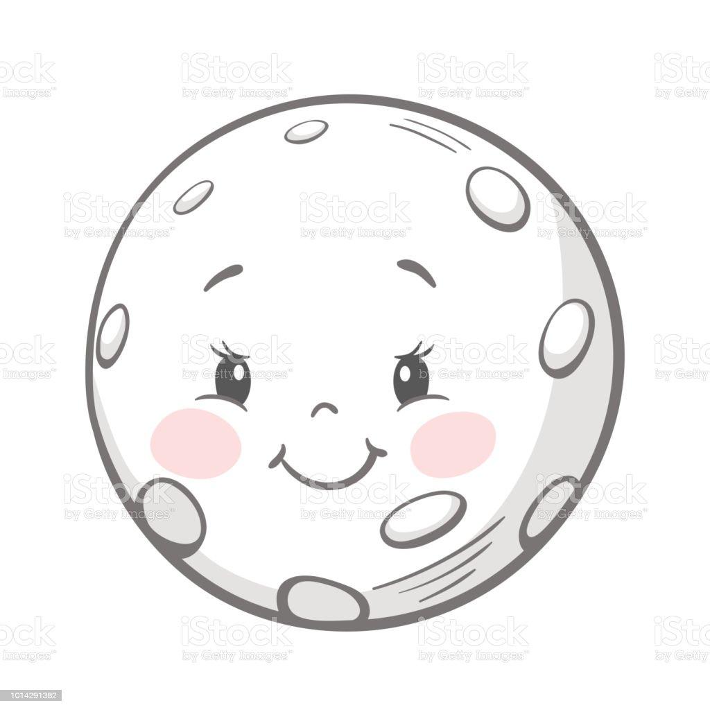 Imprimer Jolie Lune Vecteurs Libres De Droits Et Plus D Images Vectorielles De Affiche Istock
