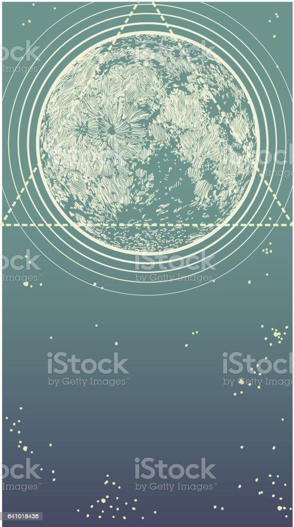 Moon Geometry vector art illustration