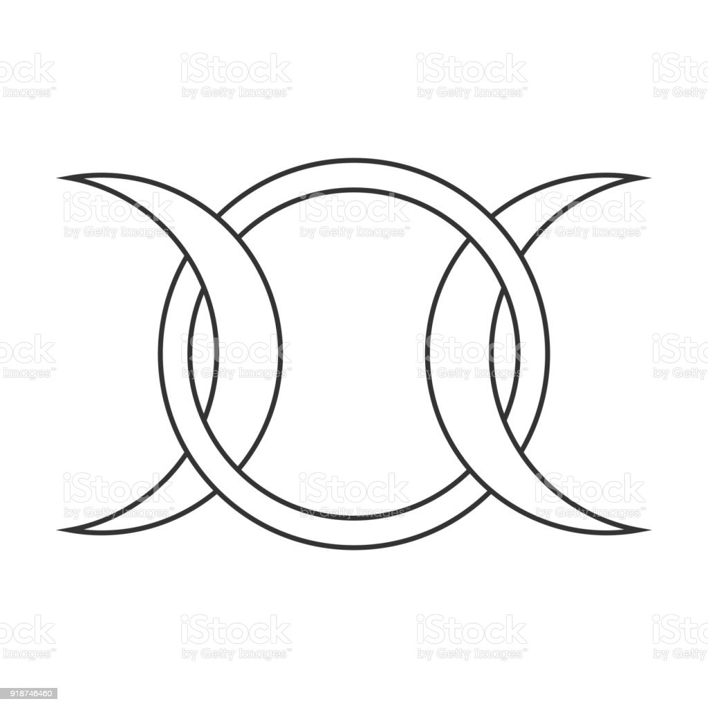 Moon goddess vector sign symbol of the waxing full and waning moon moon goddess vector sign symbol of the waxing full and waning moon royalty buycottarizona Image collections