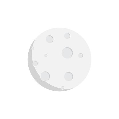 moon icon flat design
