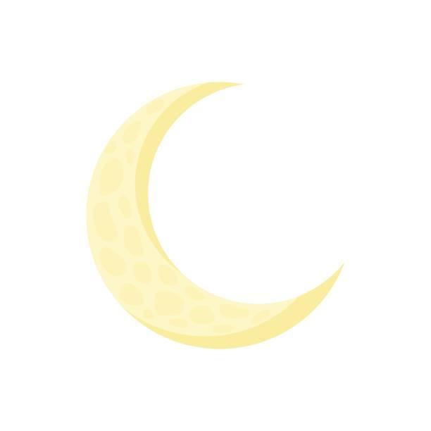 月亮在卡通風格的圖示 - 新月 幅插畫檔、美工圖案、卡通及圖標