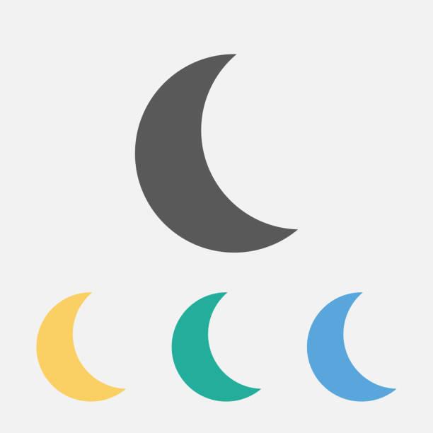 月亮圖示 - 新月 幅插畫檔、美工圖案、卡通及圖標