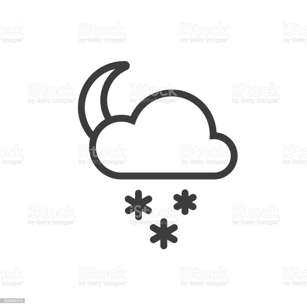 Moon Icon With Snow Stock Vector Art More Images Of Art 949352414