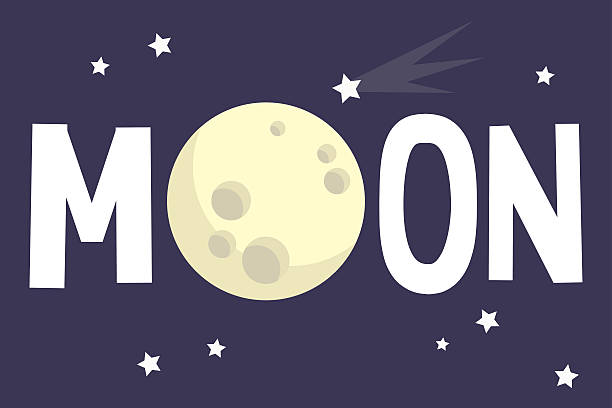ilustraciones, imágenes clip art, dibujos animados e iconos de stock de moon illustrated sign - luna