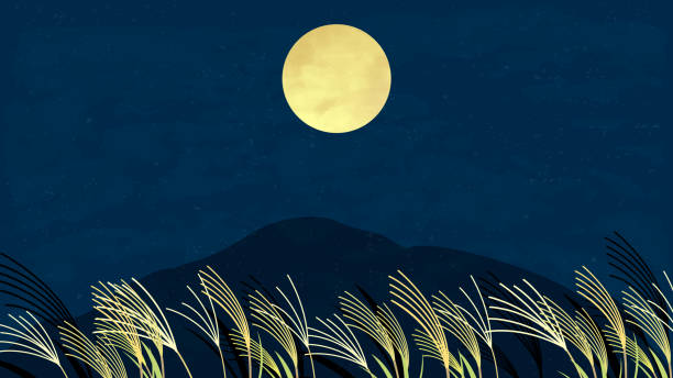 月の風景。 - 十五夜点のイラスト素材/クリップアート素材/マンガ素材/アイコン素材