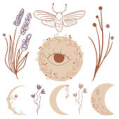 istock Moon magic clip art 1321096014