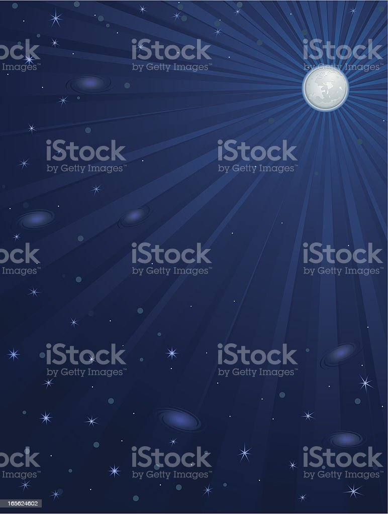 Moon Night Sky Vertical Background royalty-free stock vector art