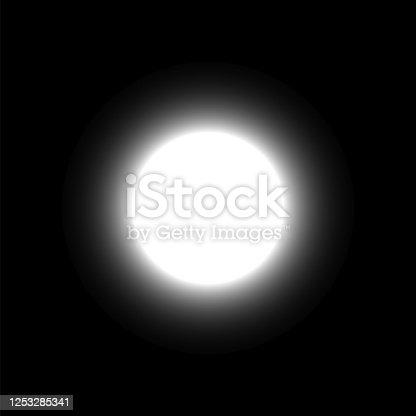 istock Moon on dark sky 1253285341