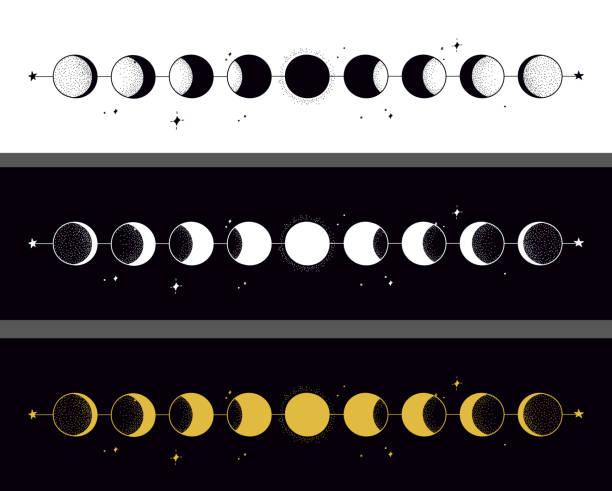 月相 - 月亮 幅插畫檔、美工圖案、卡通及圖標