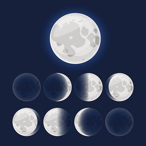 New Moon Illustrations, Royalty-Free Vector Graphics