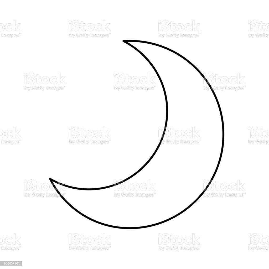 Dessin anim d croissante de lune quart vecteurs libres - Dessin de lune ...