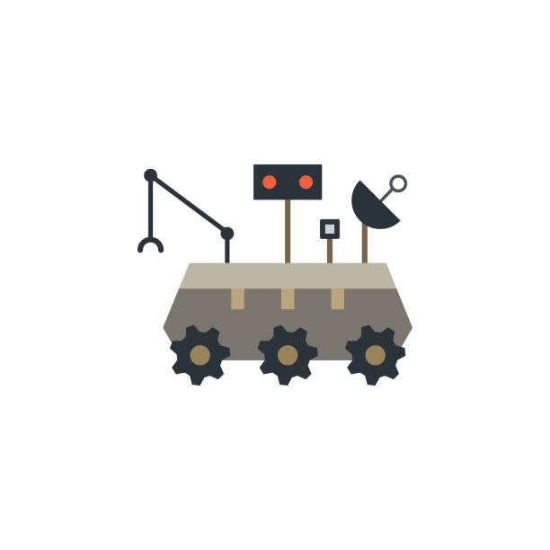 mond-rover farbige ikone. element der weltraumillustration. schilder und symbole symbol können für web, logo, mobile app, ui, ux verwendet werden - tour bus stock-grafiken, -clipart, -cartoons und -symbole