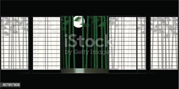 Moon Shoji, and bamboo. Japanese-style room