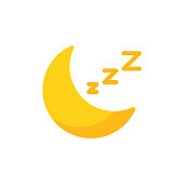 istock Moon, Sleep Flat Icon. Pixel Perfect. For Mobile and Web. 1149624414