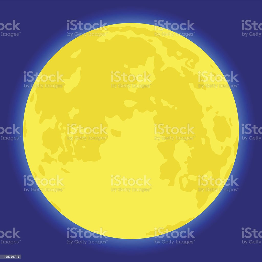 Moon vector art illustration
