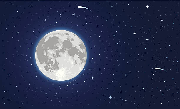moon - moon stock illustrations, clip art, cartoons, & icons