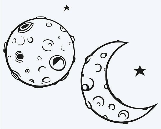 illustrazioni stock, clip art, cartoni animati e icone di tendenza di luna - luna gibbosa