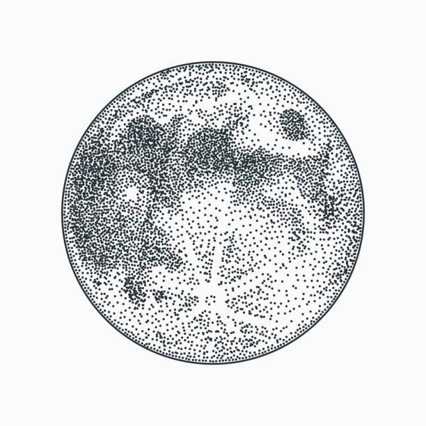 白い背景の月ベクトル イラスト。ブラックワーク dotwork タトゥーのデザイン。 - 月のタトゥー点のイラスト素材/クリップアート素材/マンガ素材/アイコン素材