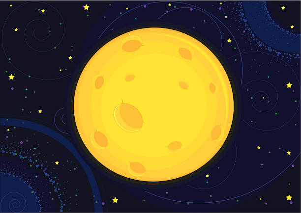 ムーンベクトルイラスト - 宇宙探検点のイラスト素材/クリップアート素材/マンガ素材/アイコン素材