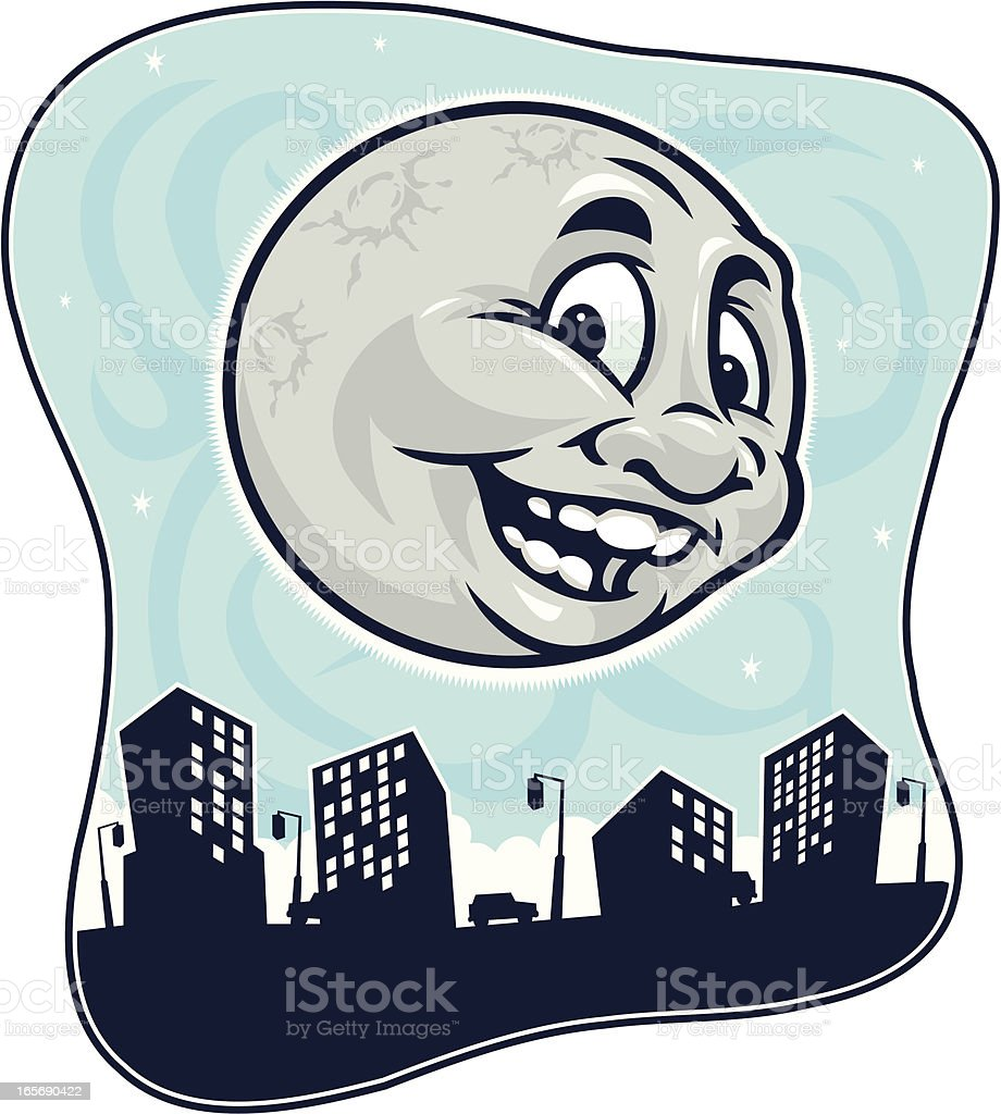 Moonglow Downtown vector art illustration