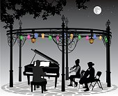 Moonlight Musical Performance With Lanterns