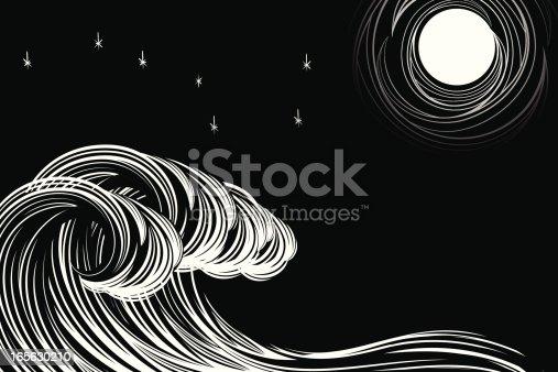 istock Moonlit Waves 165630210
