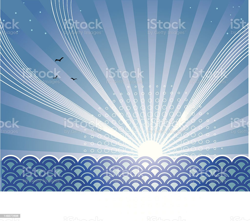 moonrise royalty-free stock vector art