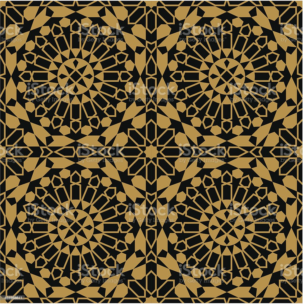 Moorish Fez Seamless Pattern royalty-free stock vector art
