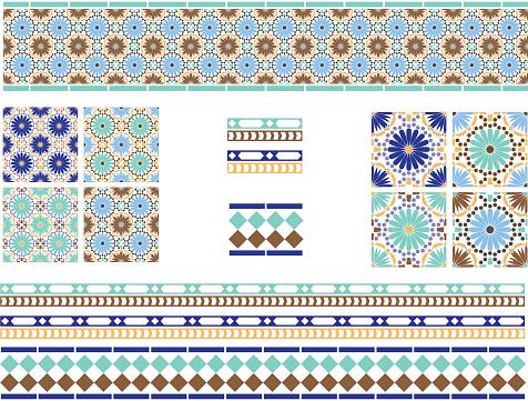 Moorish, Spanish Andalusian Tiles