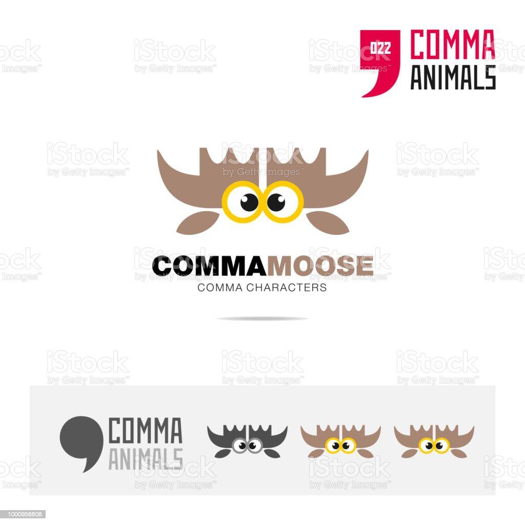 Elch Tier Konzept Symbol Vorlage Für Moderne Marke Identität Und ...