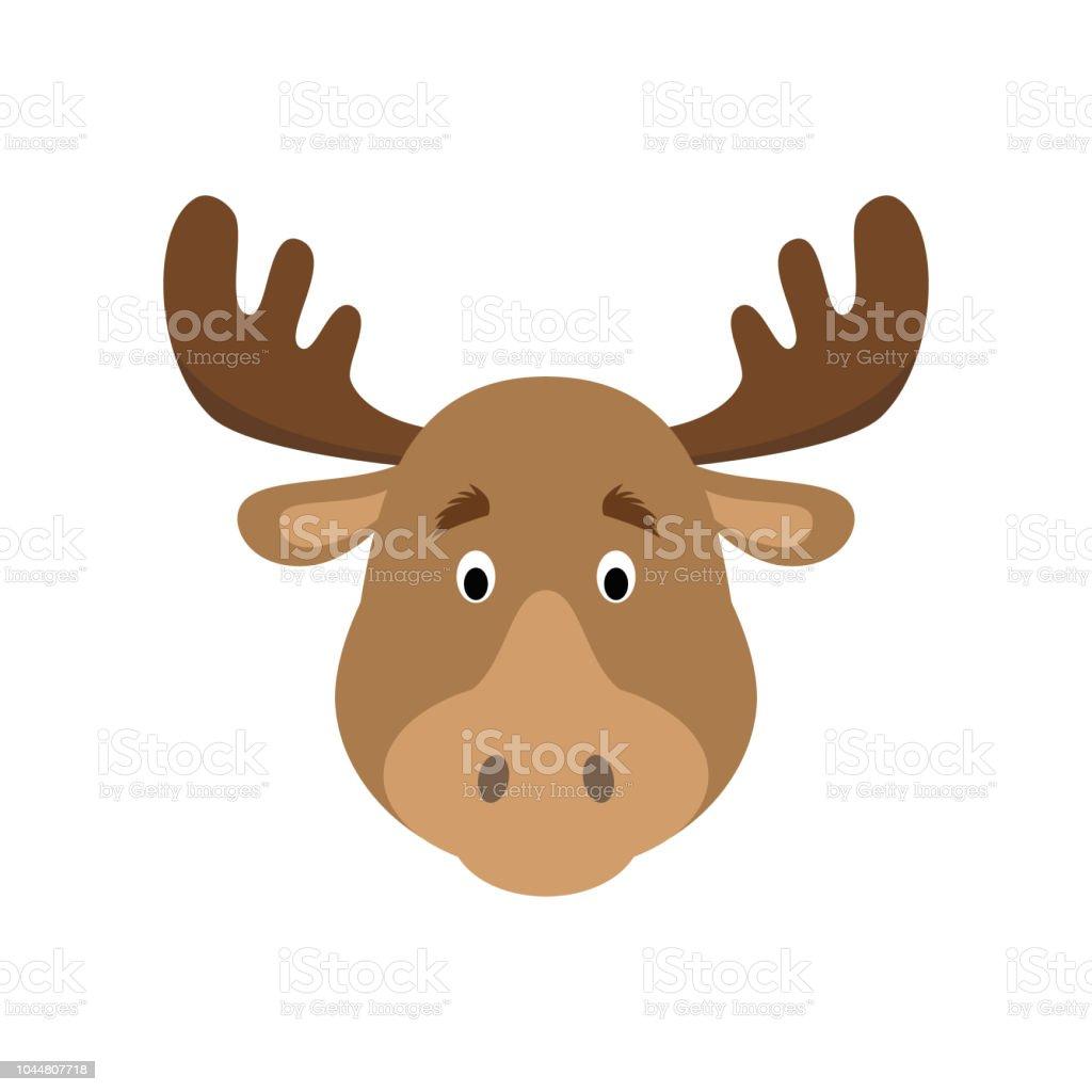 Moose face cartoon - photo#36