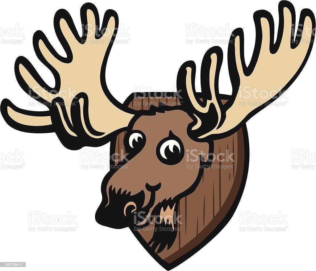 Moose Head vector art illustration