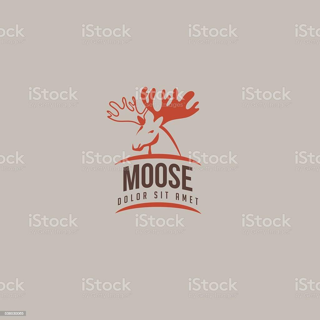 Moose icon vector art illustration