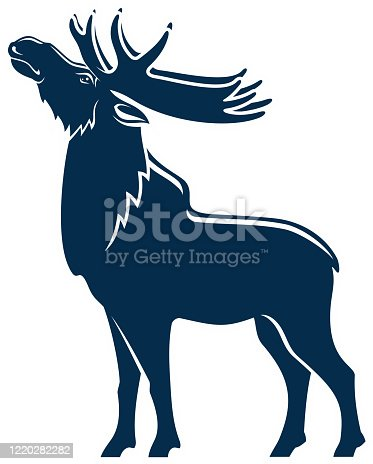 istock Moose silhouette isolated wild animal full length 1220282282