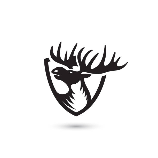 Moose symbol - vector illustration Moose symbol elk stock illustrations