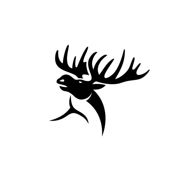 Moose - vector illustration Moose elk stock illustrations