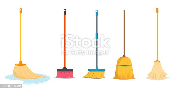 istock Mop and broom for cleaning 1028718088