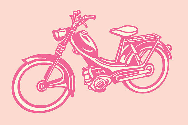 moped - moped stock-grafiken, -clipart, -cartoons und -symbole