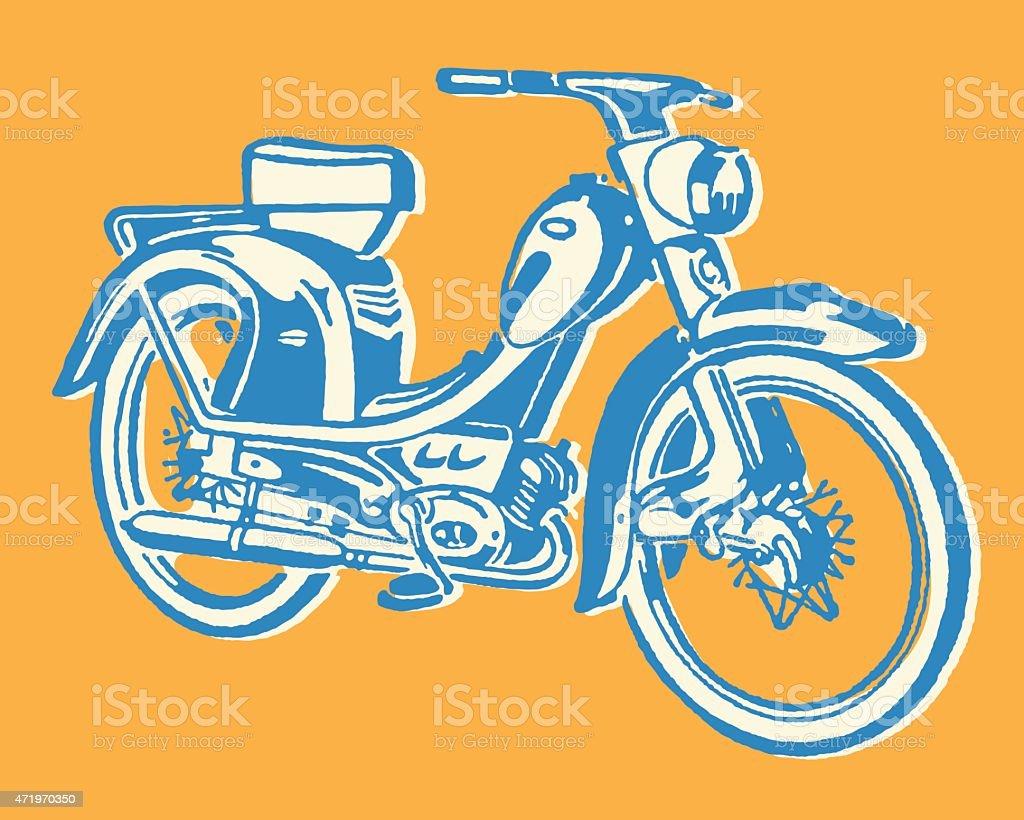 Moped vector art illustration