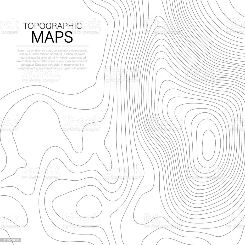 Mopographic Map The Stylized Height Of The Topographic