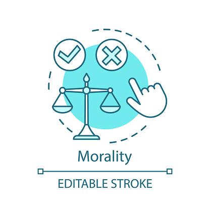 Morality concept icon