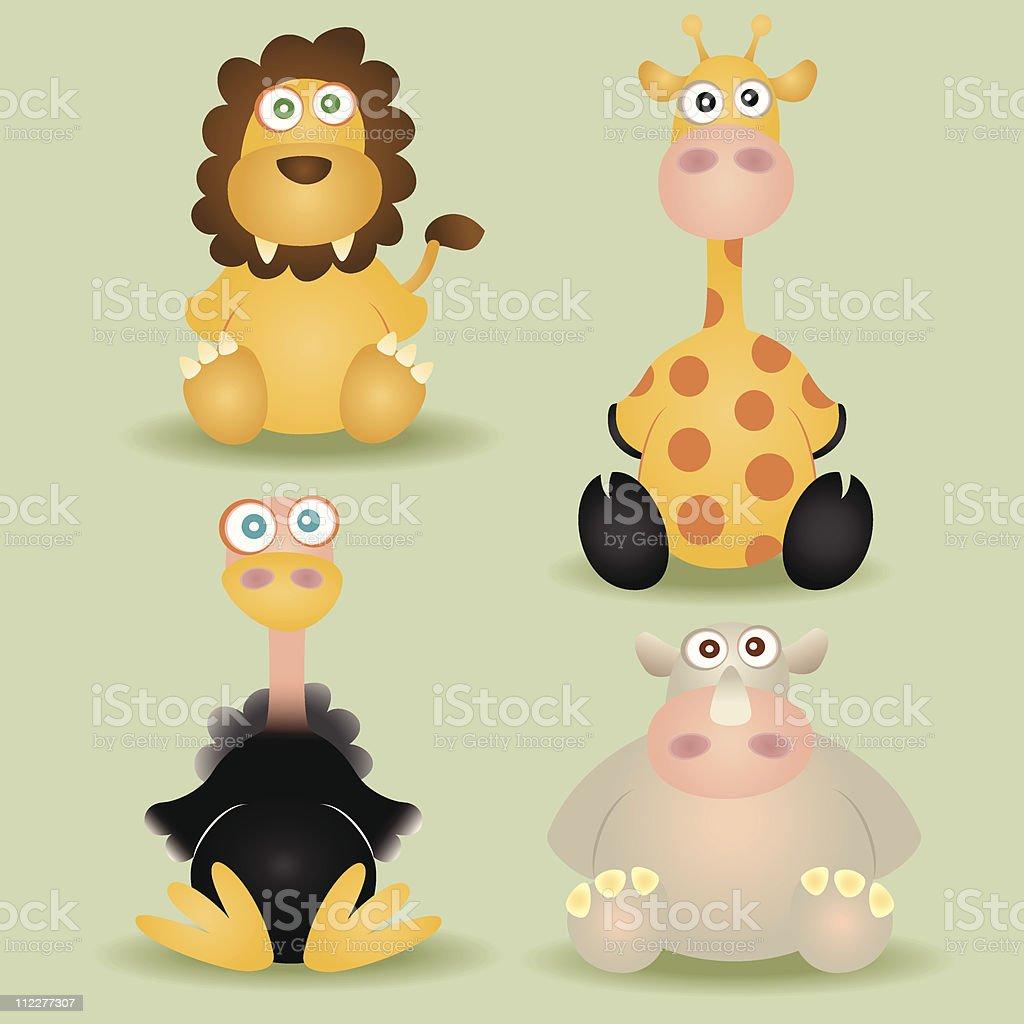 その他のアフリカ動物の赤ちゃん のイラスト素材 112277307 | istock