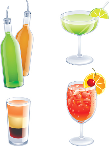 More Cocktail-vektorgrafik och fler bilder på Alkohol