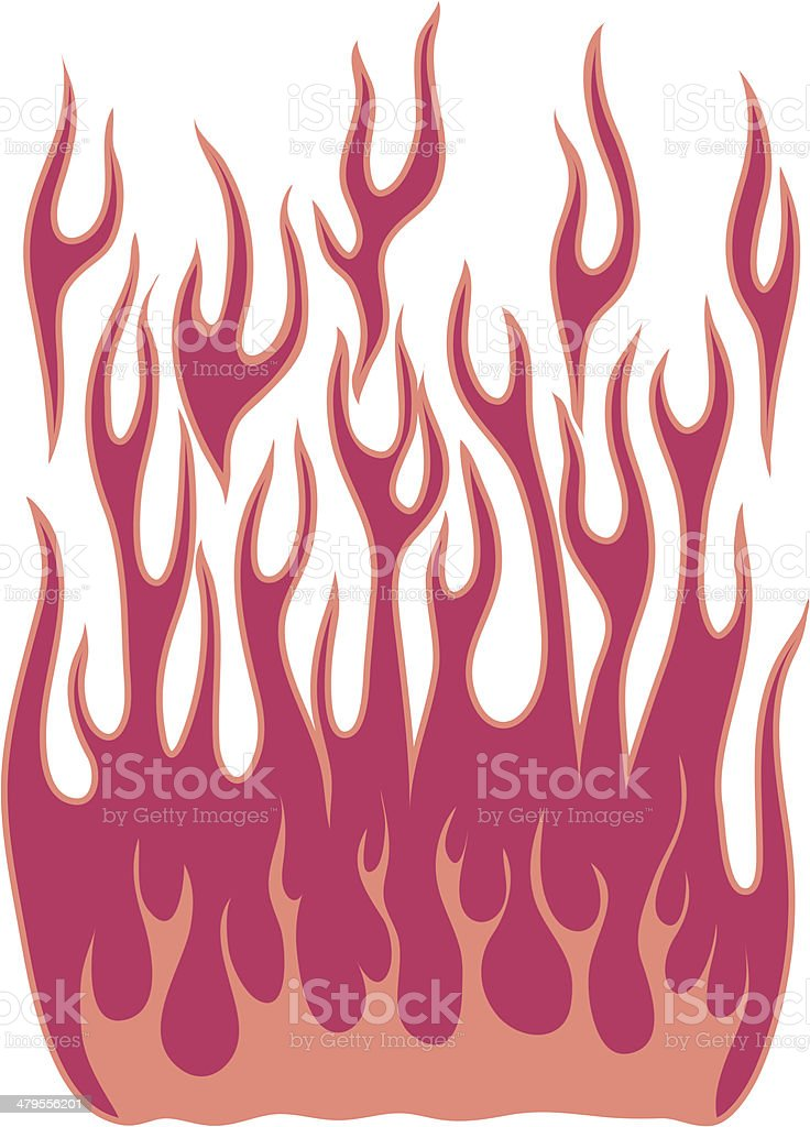 More Hot Rod Flames royalty-free stock vector art